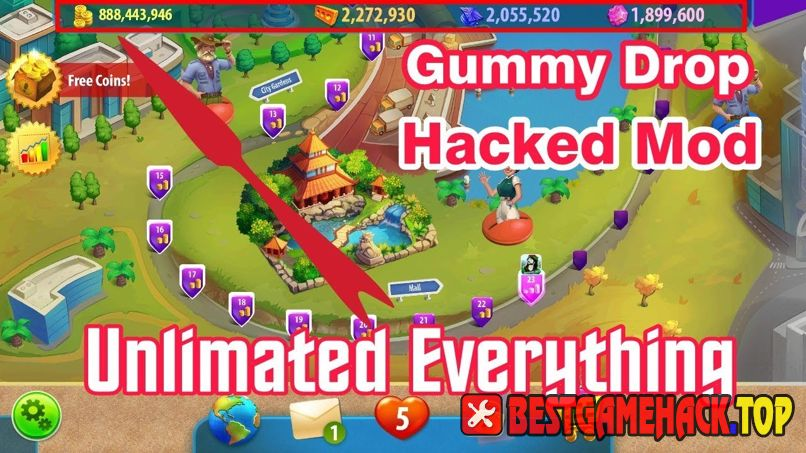 Gummy Drop Hack Cheats Unlimited Coins